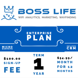 Enterprise Bundle Boss Life Wifi Powered by Purple 1 year monthly pay