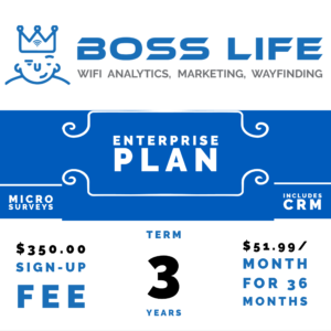Enterprise Bundle Boss Life Wifi Powered by Purple 3 year monthly pay