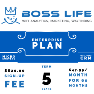 Enterprise Bundle Boss Life Wifi Powered by Purple 5 year monthly pay