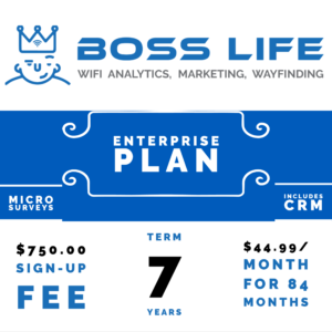 Enterprise Bundle Boss Life Wifi Powered by Purple 7 year monthly pay